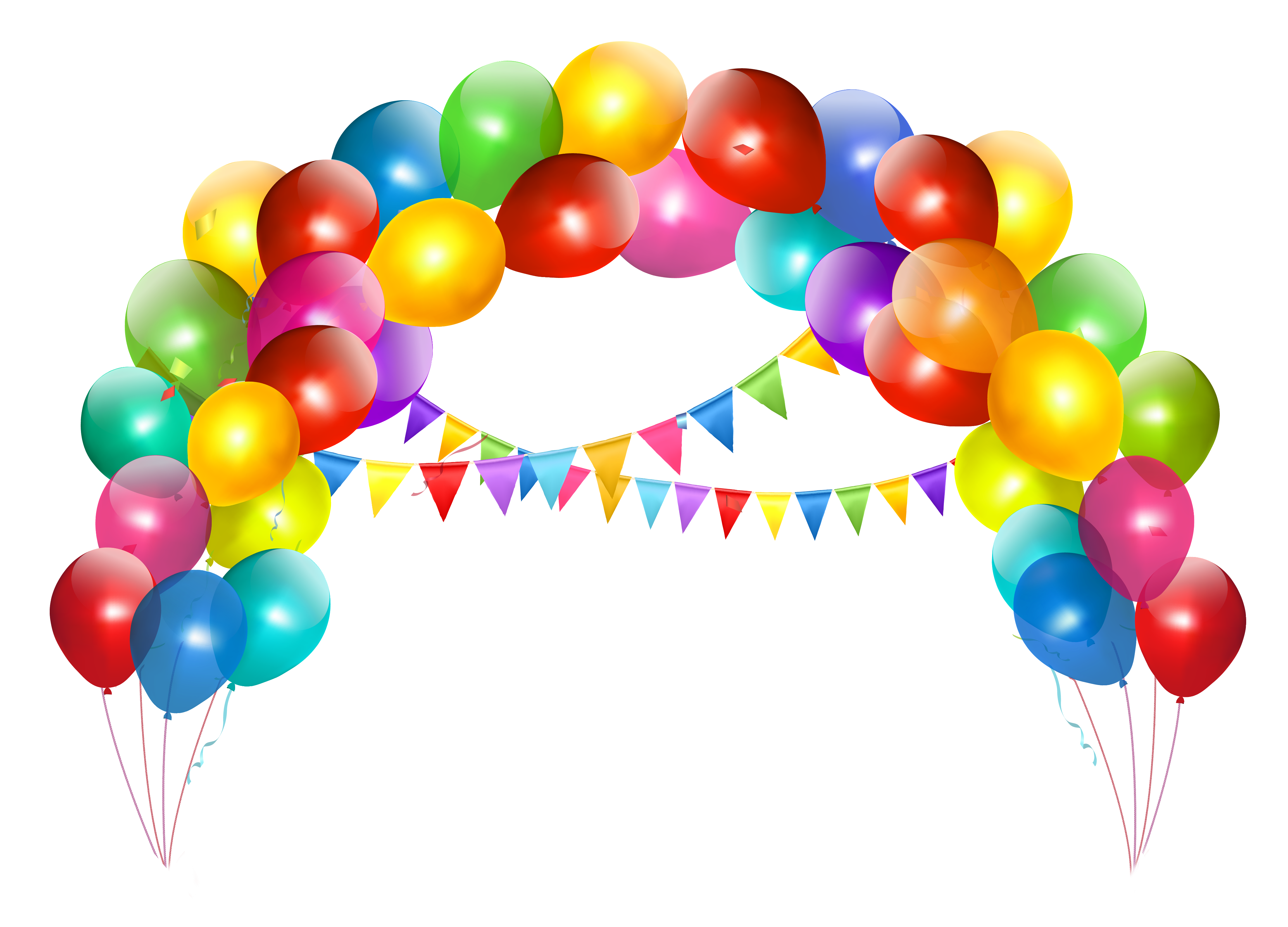 Balloons clipart. Transparent balloon arch with