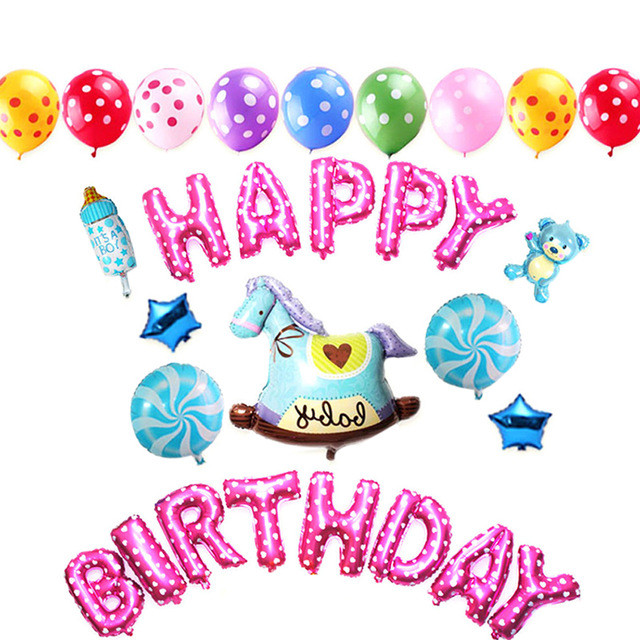 Ballon clipart birthday accessory. Pcs set happy