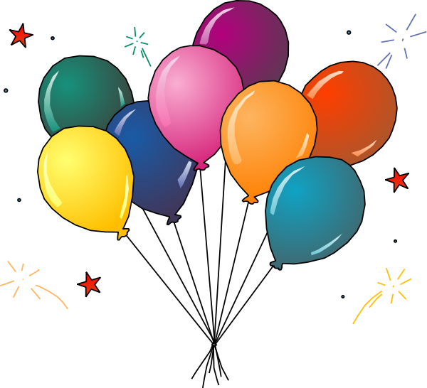 Ballon clipart celebration balloon. Free graphics of colorful