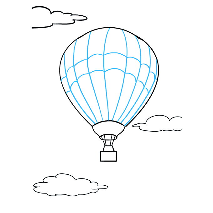 Ballon drawing. How to draw a