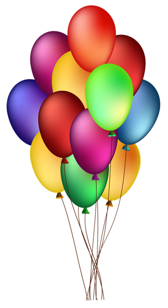 Happy vector birthday balloon. Bunch of colorful balloons
