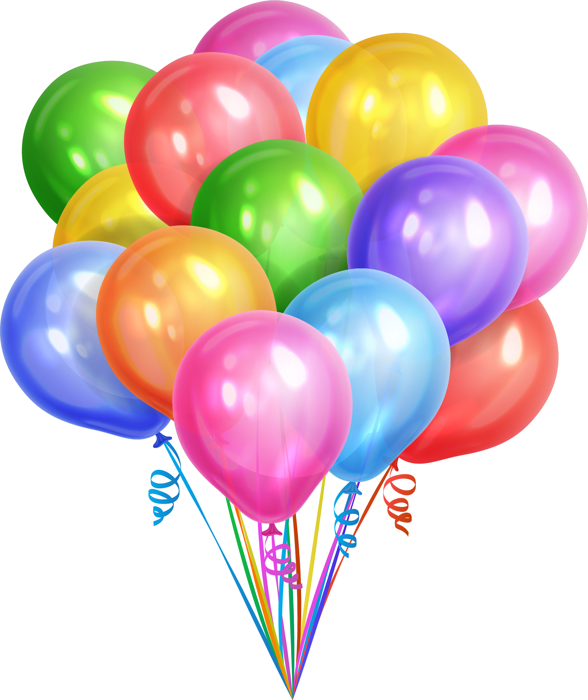 Ballon drawing balloon cluster. Colorful dream balloons transprent