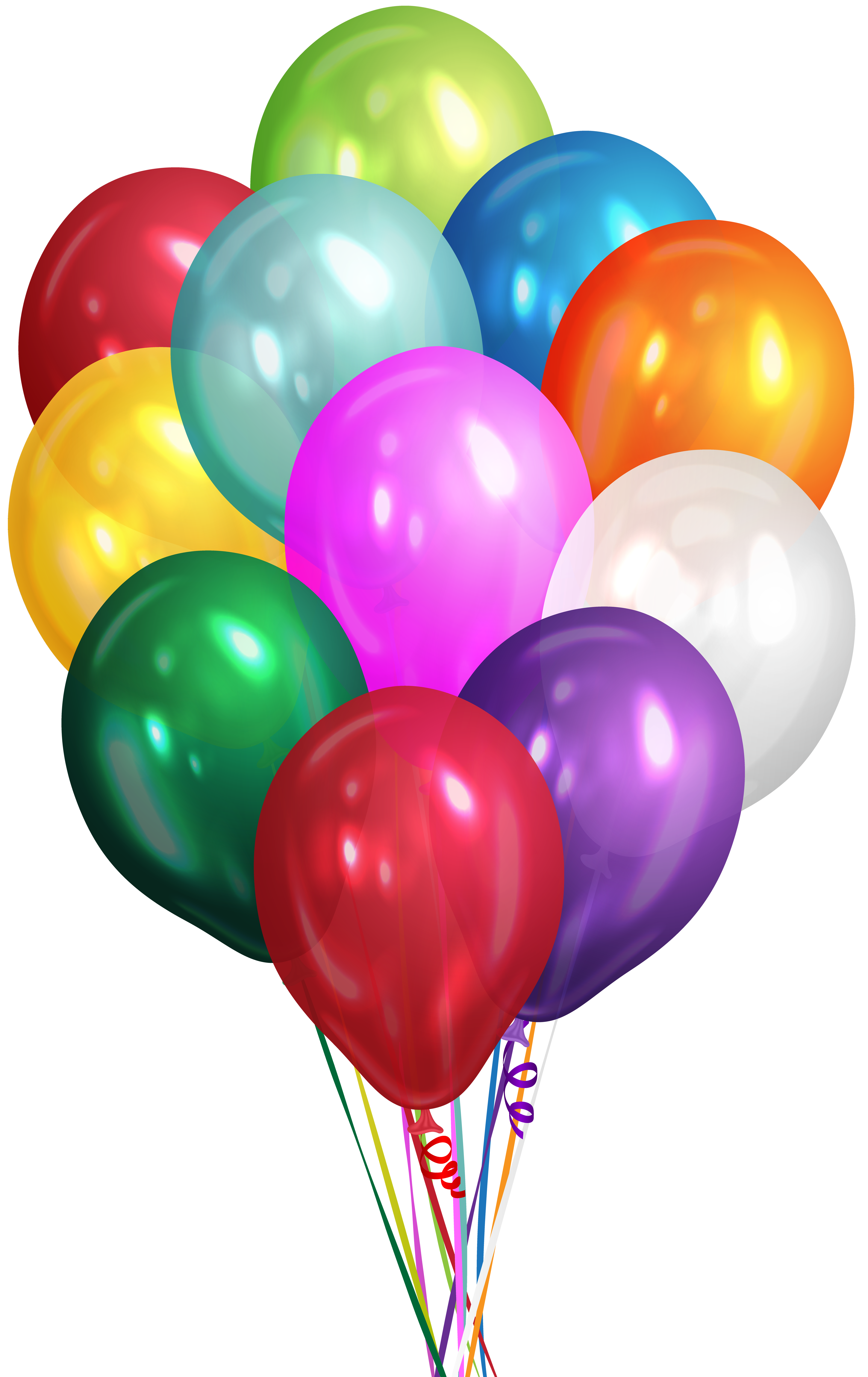 Ballon drawing balloon cluster. Collection of free balloons