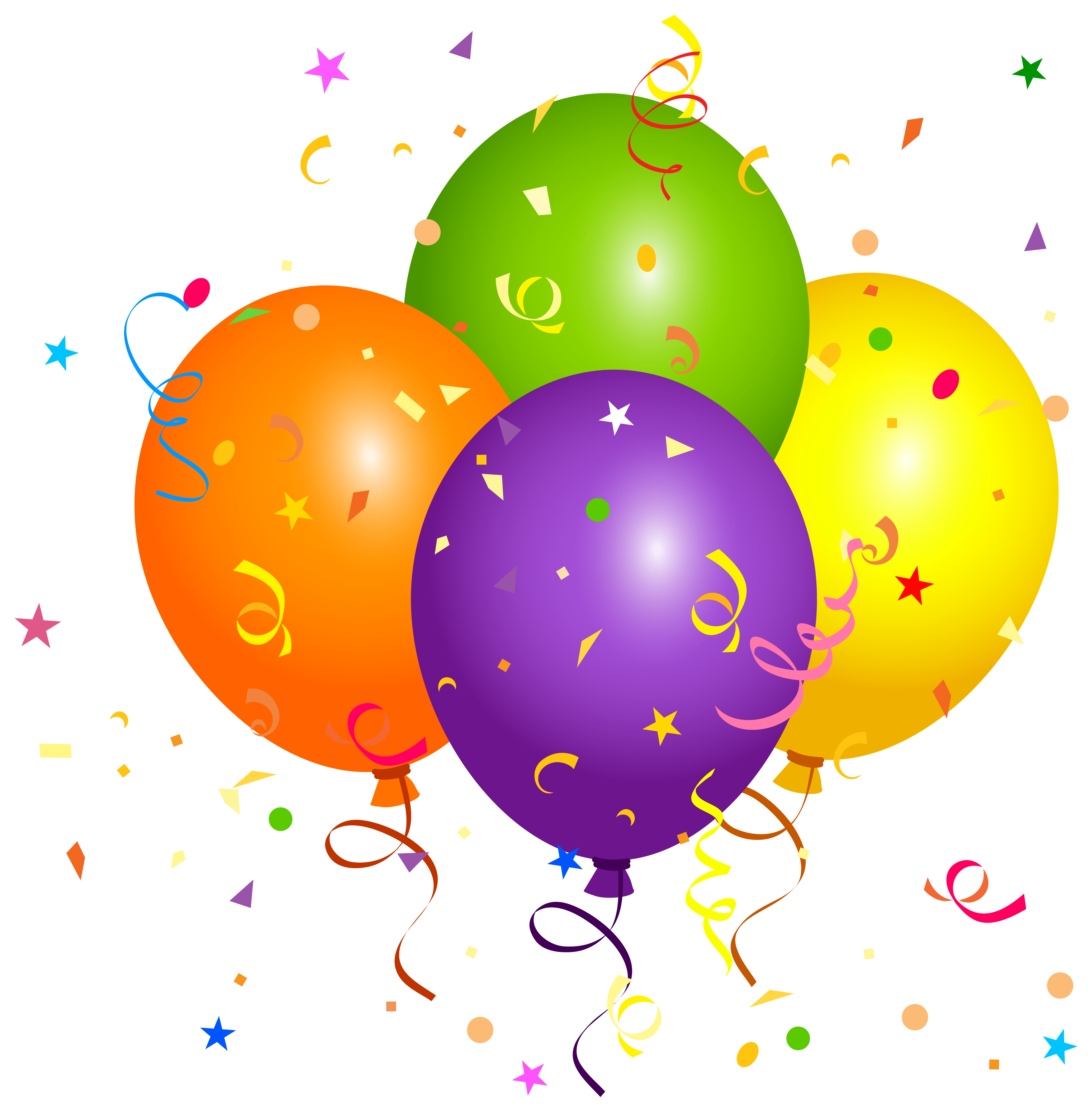 Confetti drawing balloon. Balloons with png clipart