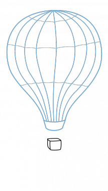 Ballon drawing beginner. How to draw hot
