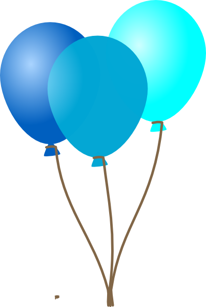 Ballon drawing blue balloon. Collection of free ballooned