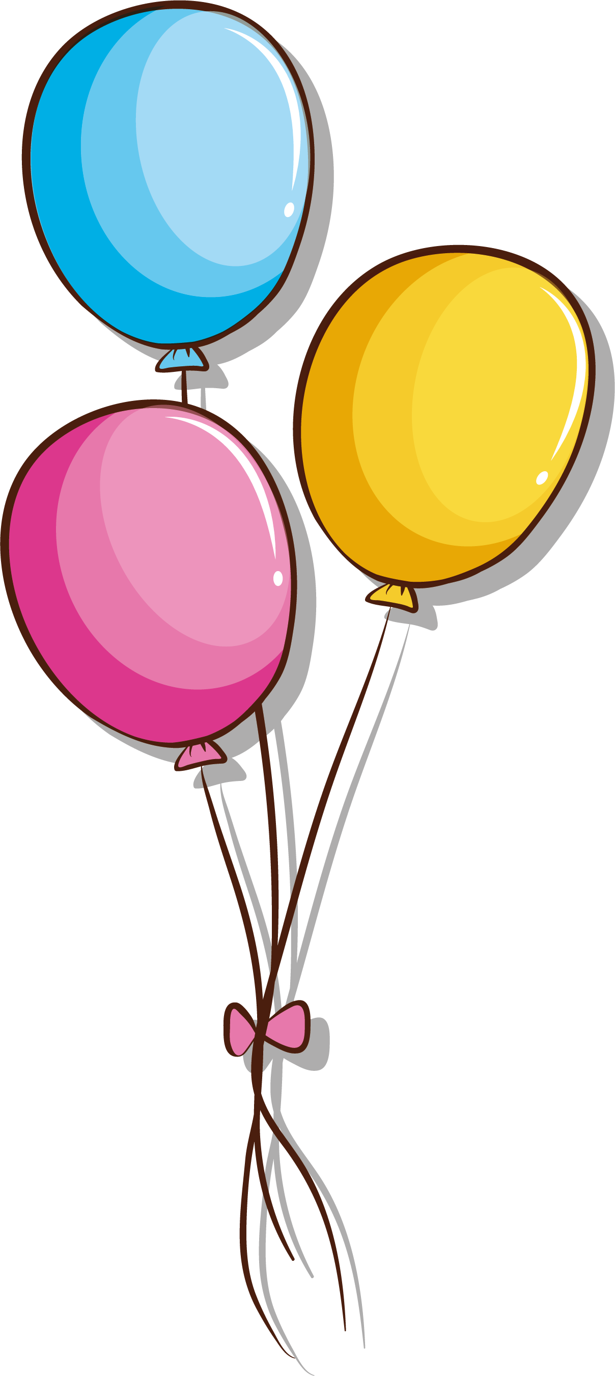 Ballon drawing bunch balloon. Toy illustration a of
