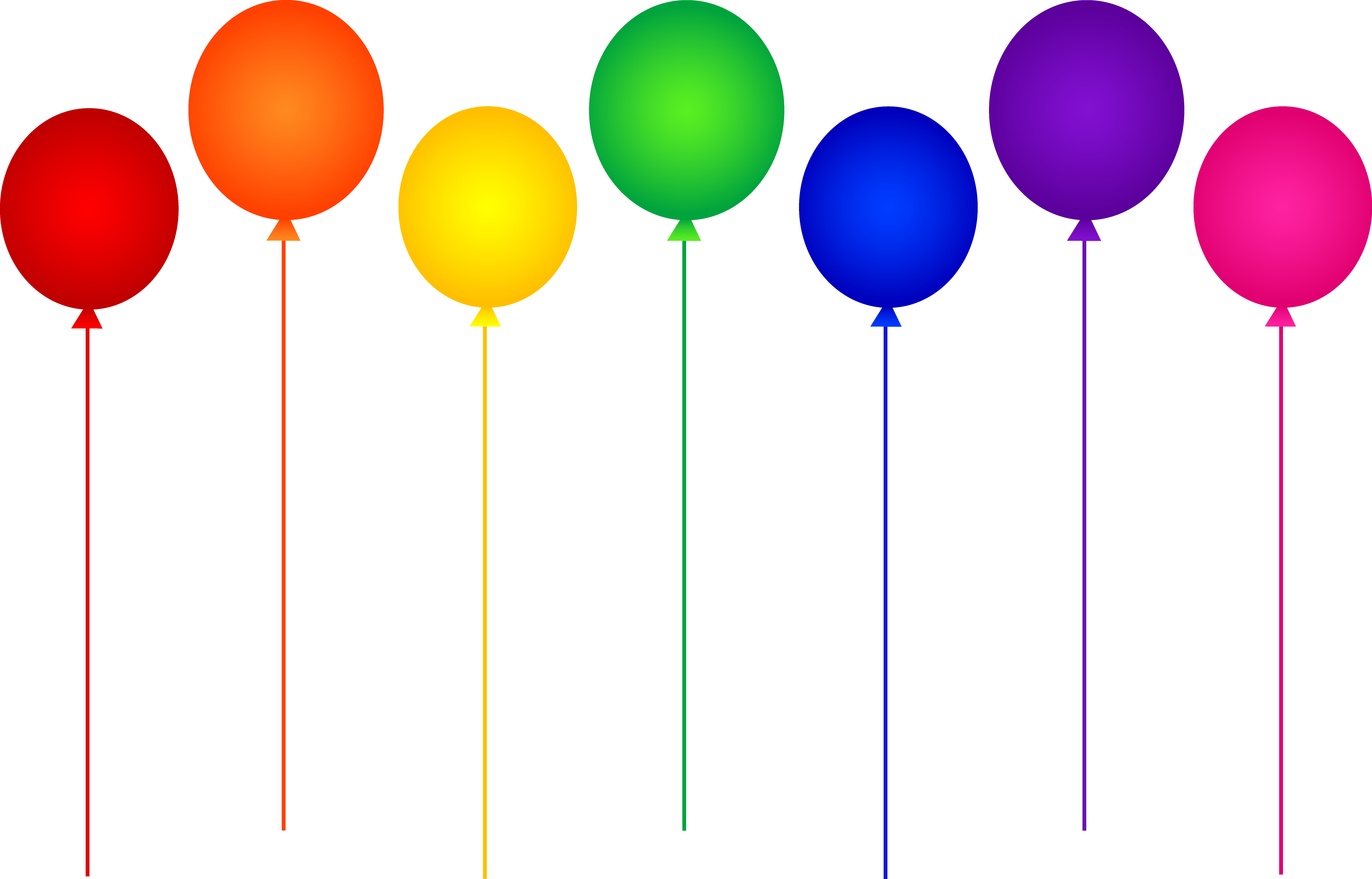 Ballon drawing colorful balloon. Seven rainbow birthday party