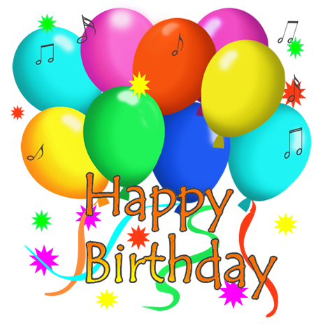 Ballon drawing happy birthday flower. Clip art and free