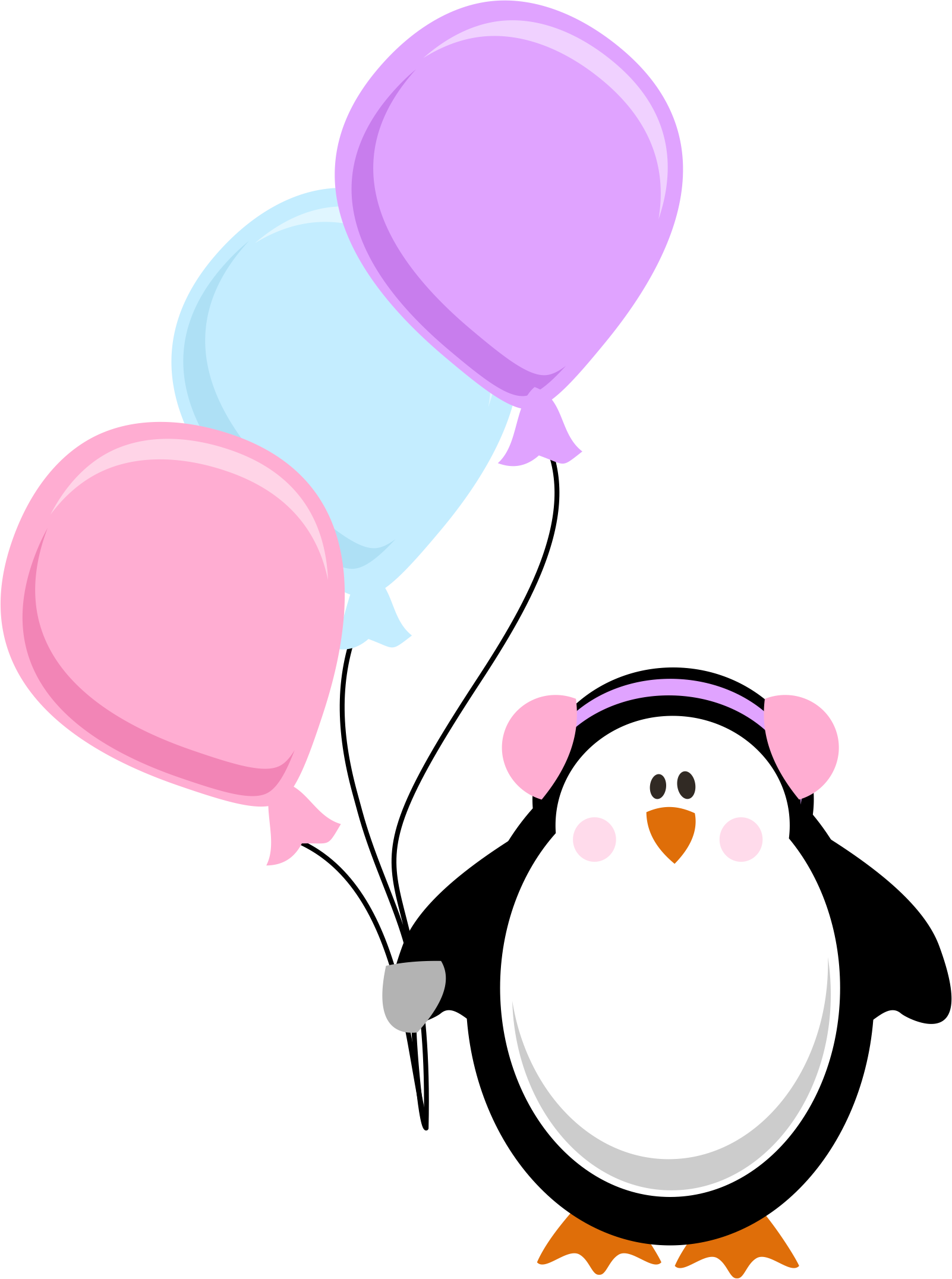 Penguin clipart birthday. Photo by daniellemoraesfalcao minus