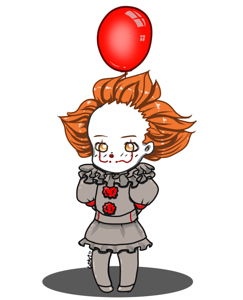 Ballon drawing pennywise. Cute chibi by catartcreations