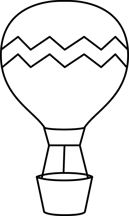 Flip drawing balloon. Black and white striped