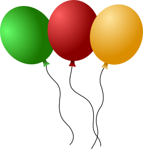 Ballon drawing three. Collection of free ballooned