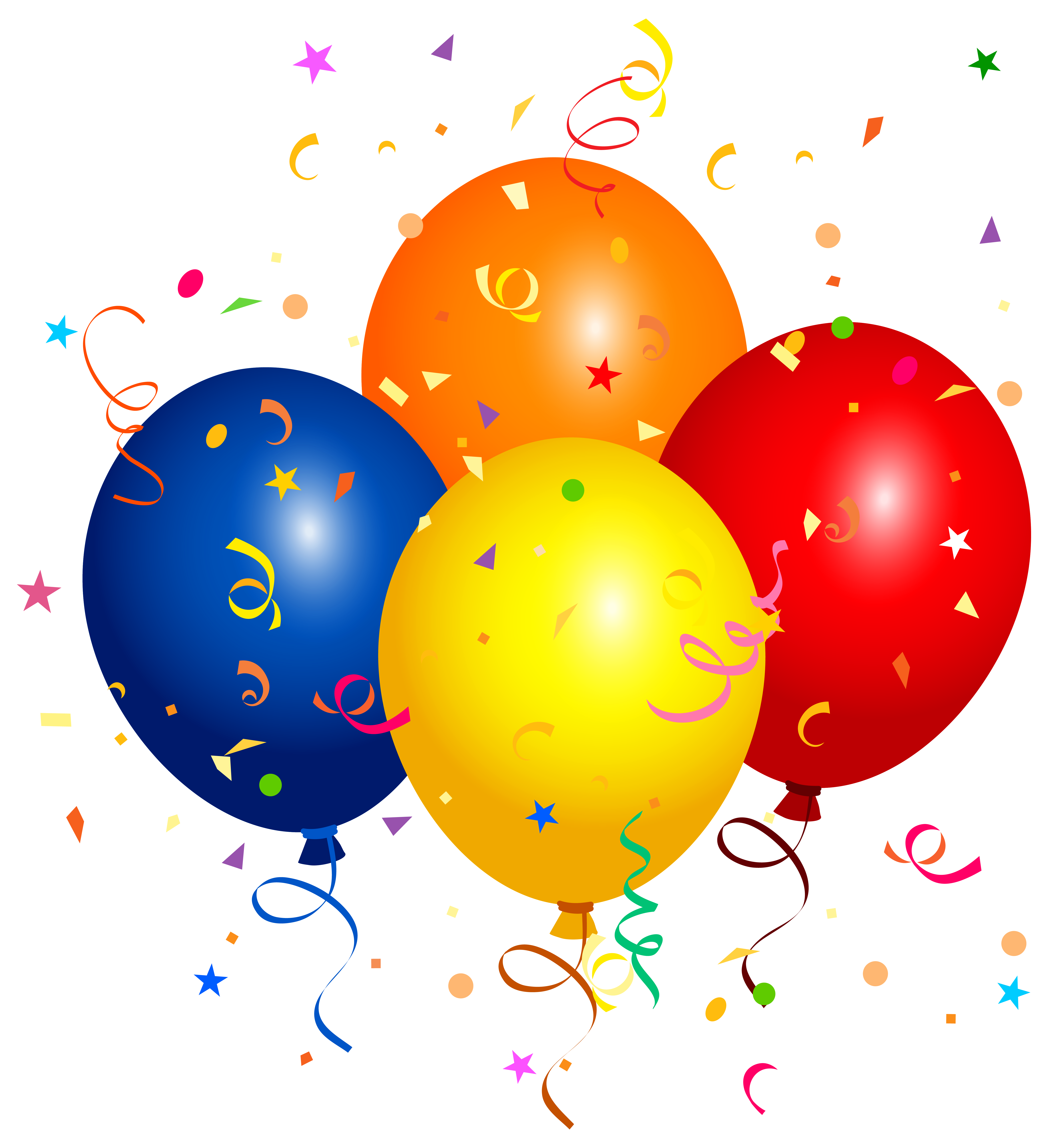 Balloon clipart png. Confetti and balloons image