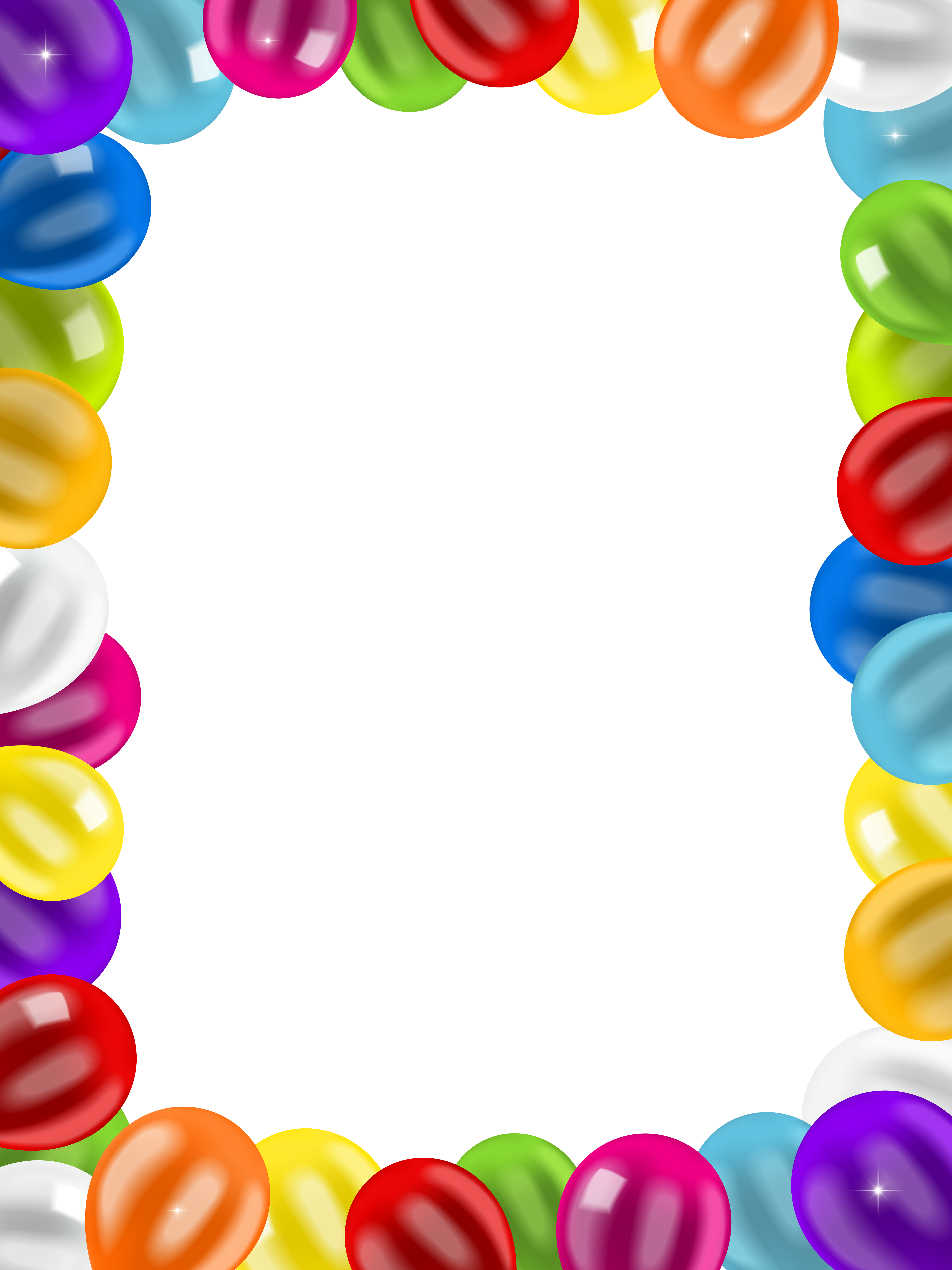 Birthday balloons border png. Frame clip art image