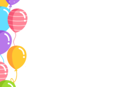 Birthday balloons border png. Vector clipart psd peoplepng