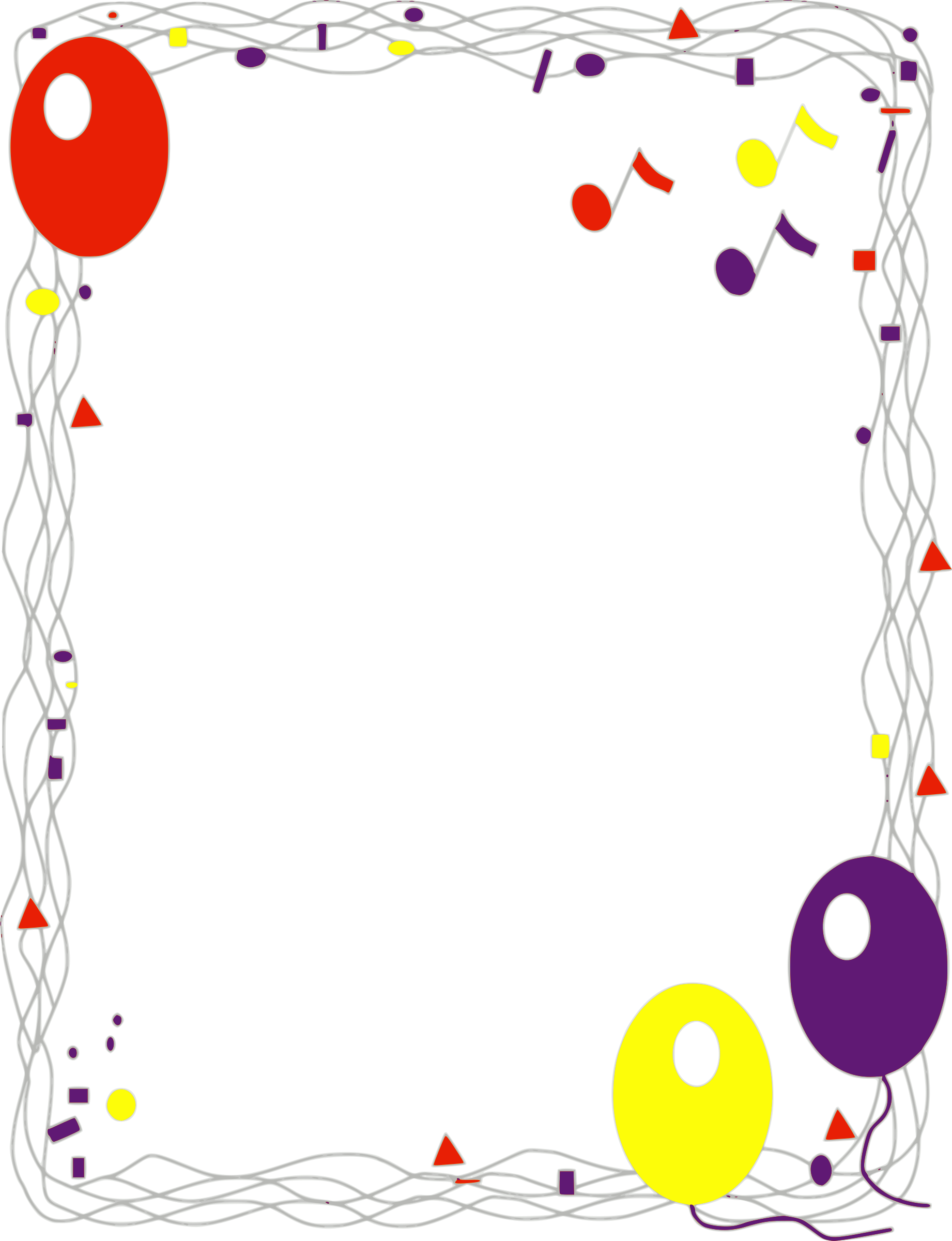 Balloon border png. Icons free and downloads