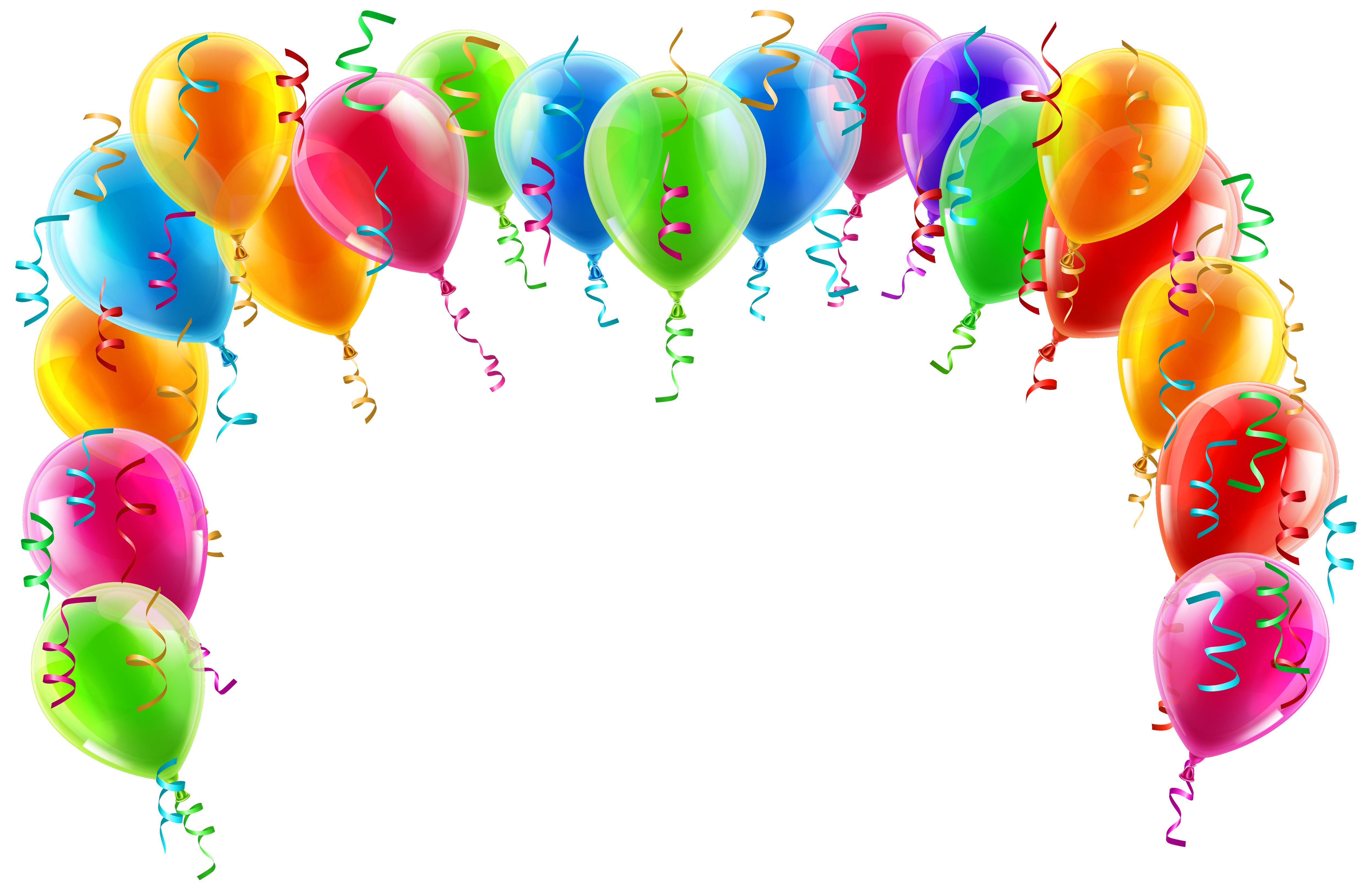 Balloon border png. Colorful arch clipart picture