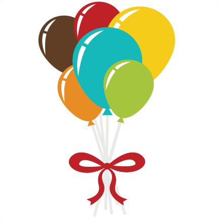 Balloon bouquet png. Svg scrapbook file free