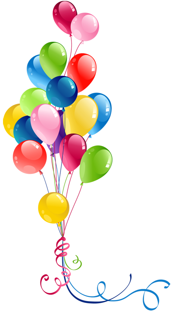 Balloon clipart ballon. Transparent bunch balloons pretty