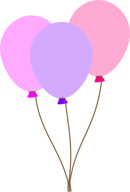 Balloon clipart ballon. Free graphics of colorful