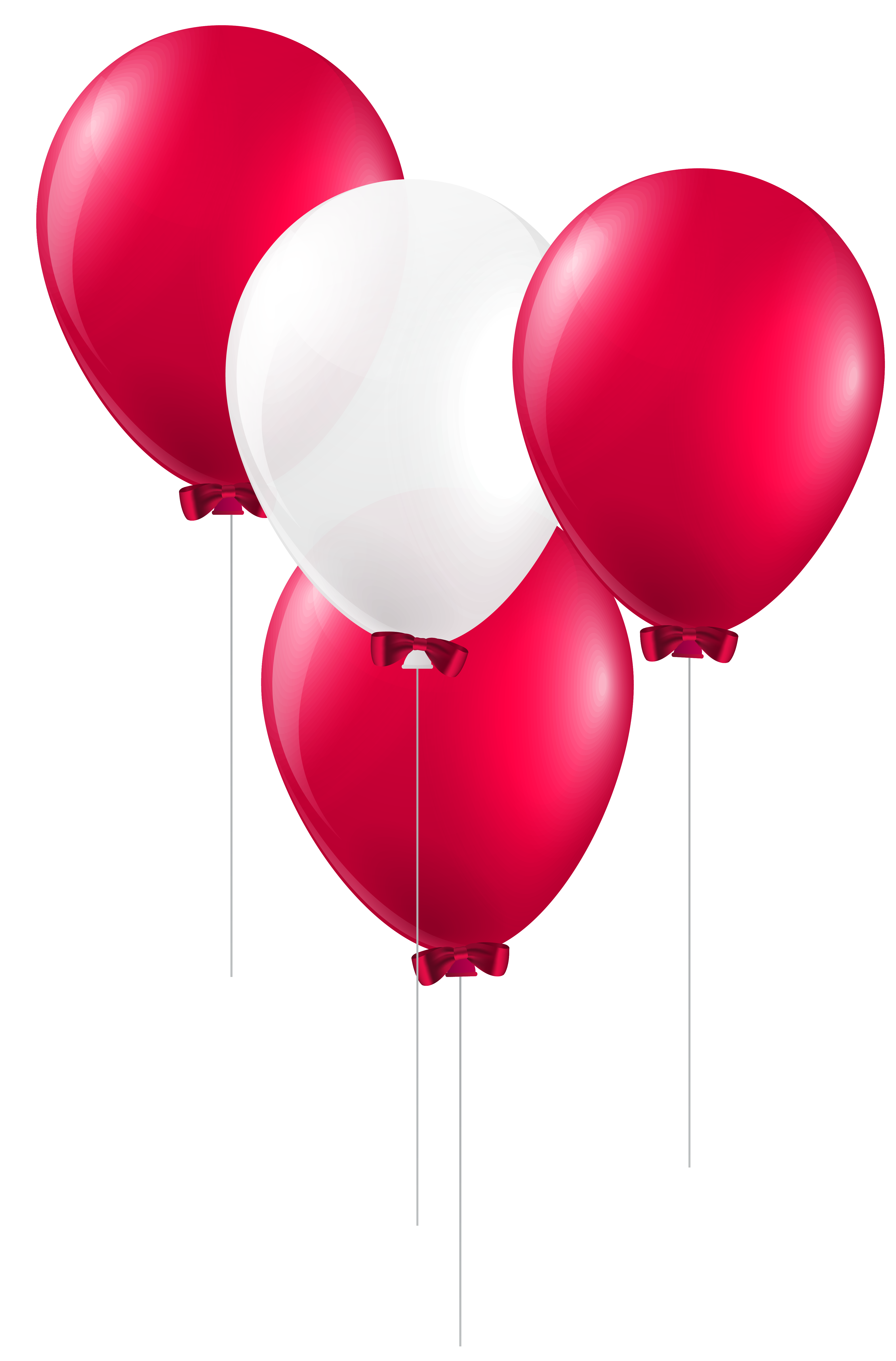 White balloons png. Red and clip art