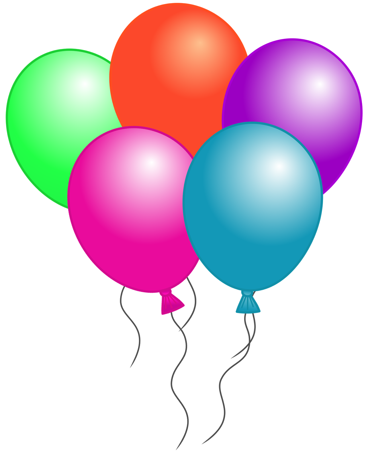 balloons clipart happy birthday