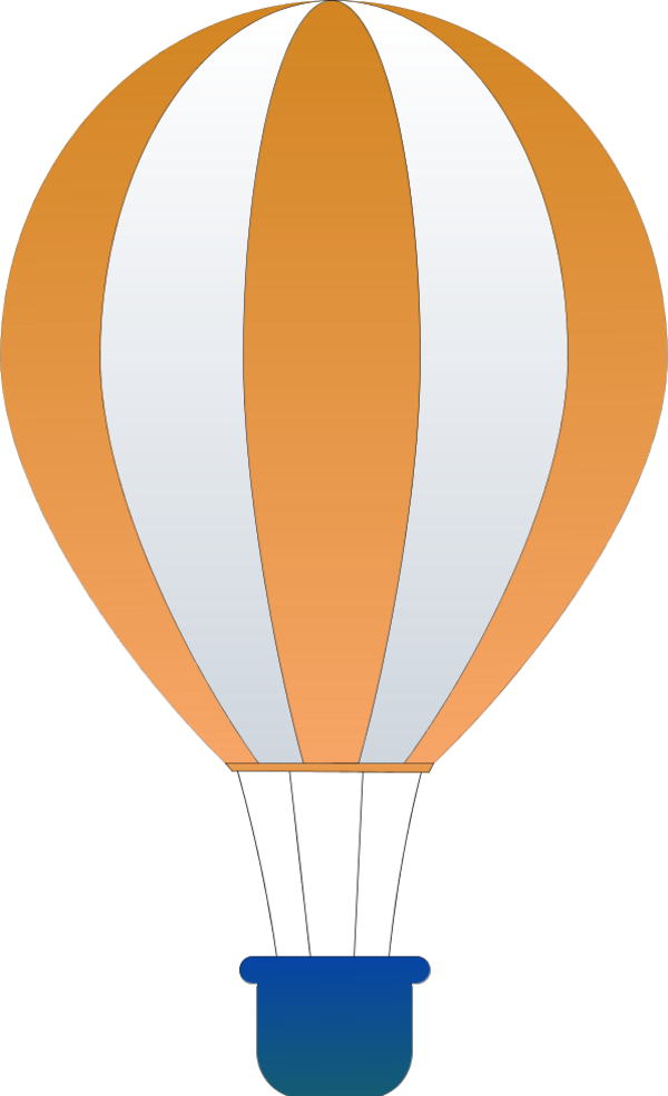 Flying vector hot air. Free balloon clipart download