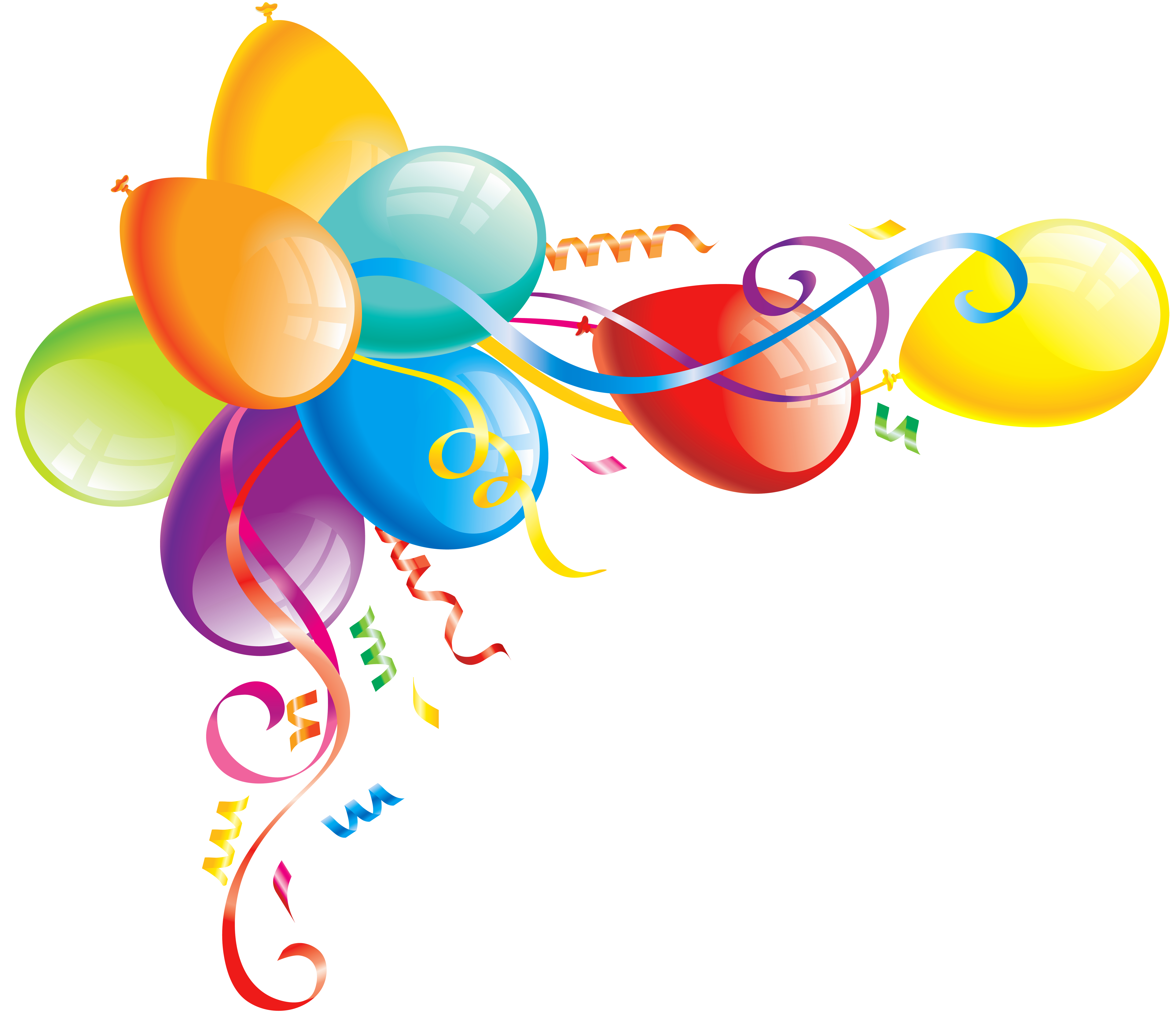 Large Transparent Balloons Clipart