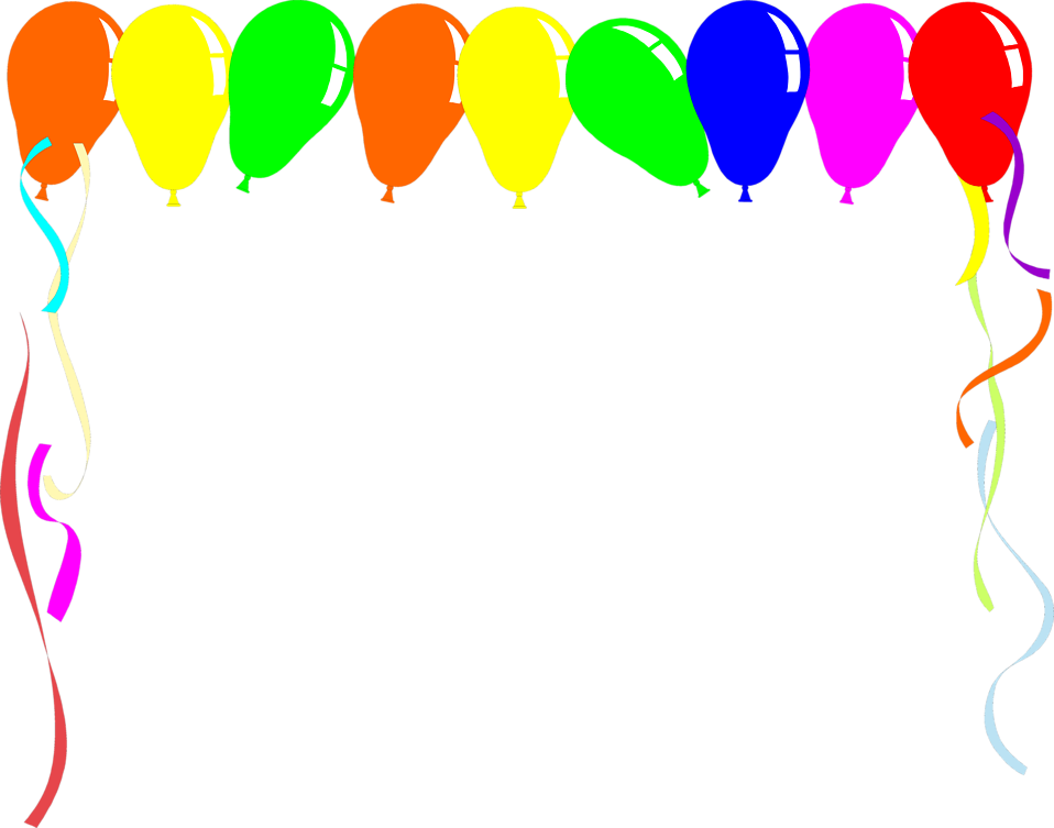 Birthday border png. Free balloon images download
