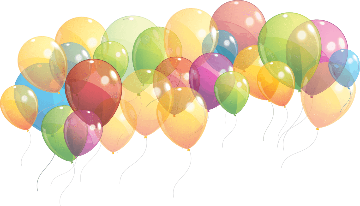 Balloon png transparent background. Group of balloons taking