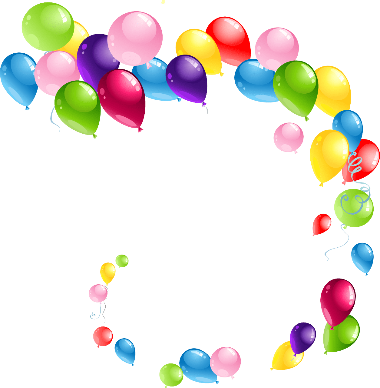 Balloon png transparent background. Flying spiral balloons stickpng