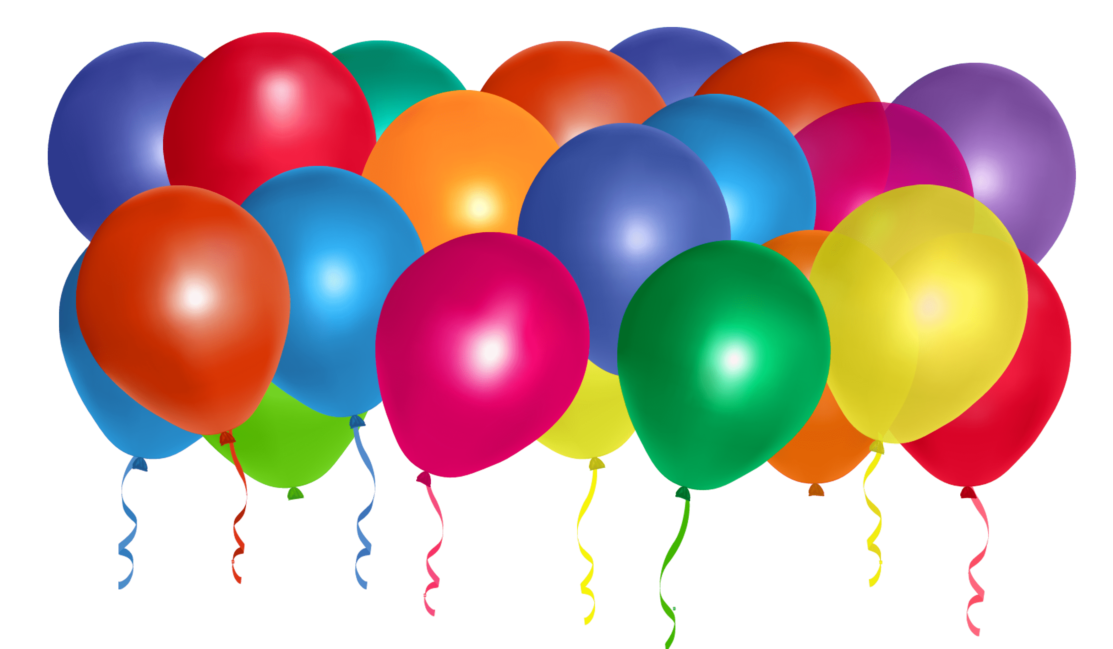 Balloon stick png. Colourful balloons transparent stickpng