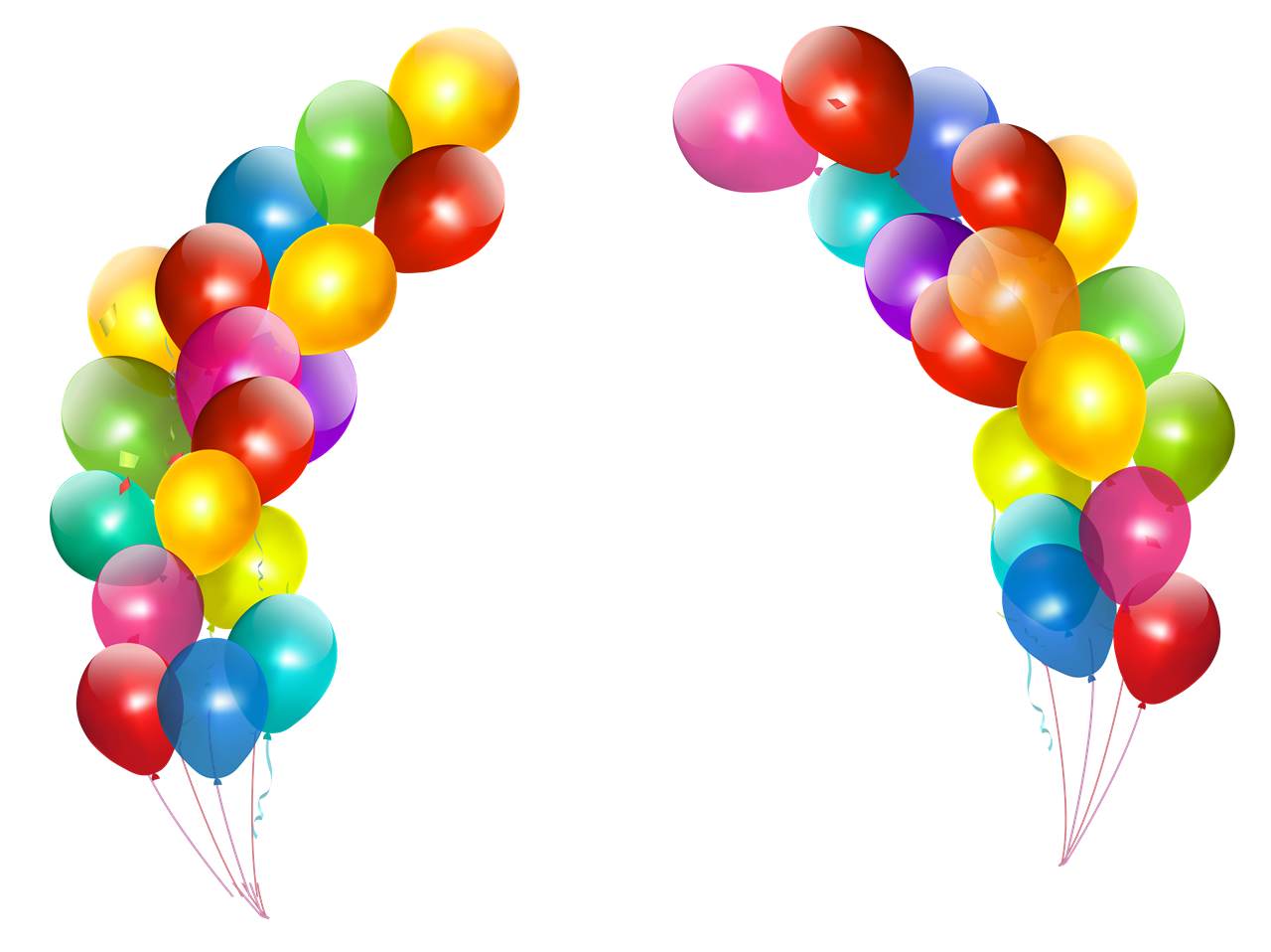 Balloons .png. Colorful png image background