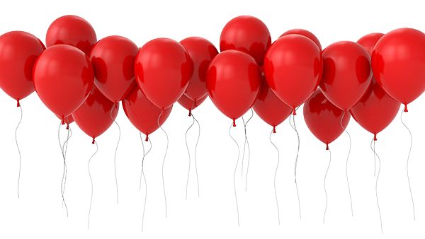 Balloons background png. Heart image vector clipart