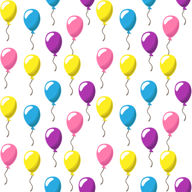 Balloons background png. Pattern with party of