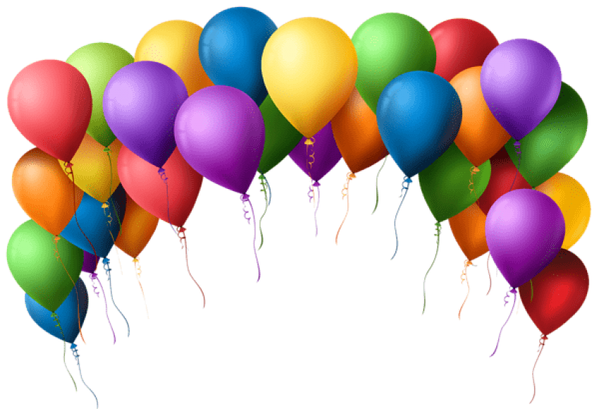 Balloons background png. Download balloon arch transparent
