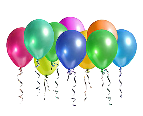 Balloons background png. Ten party transparent image