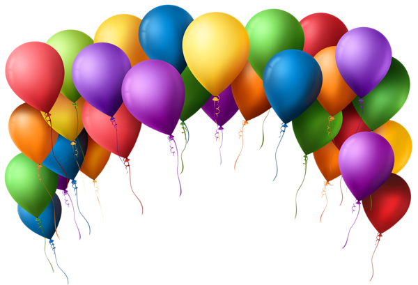 Balloons background png. Balloon arch transparent clip