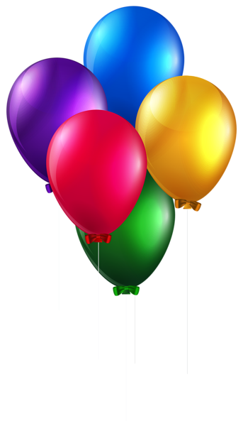 3 balloon png. Colorful balloons clip art