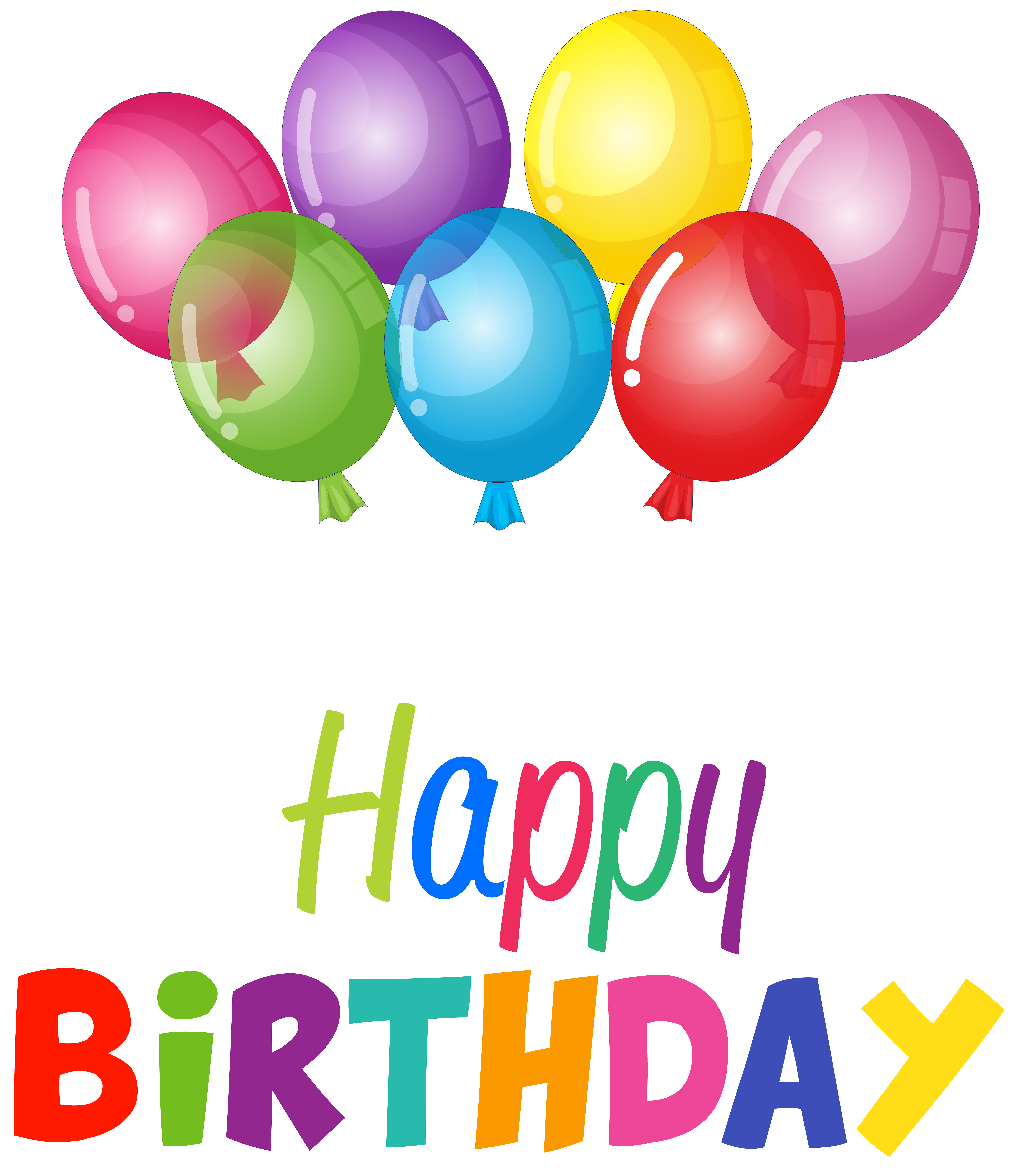 6931 X 8000 3 0 Similar Images By Balloons Clipart Happy Birthday