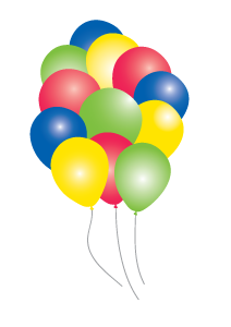 Balloons clipart retirement. Celebration png images streamers