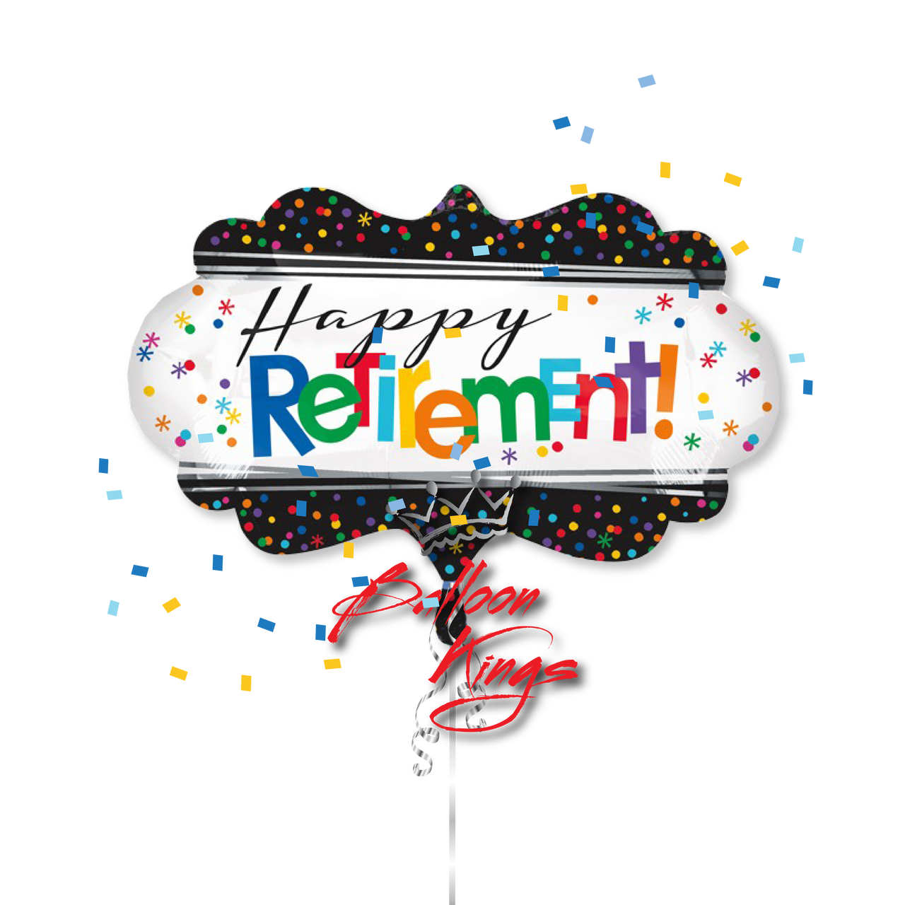Balloons clipart retirement. Happy marquee balloon kings