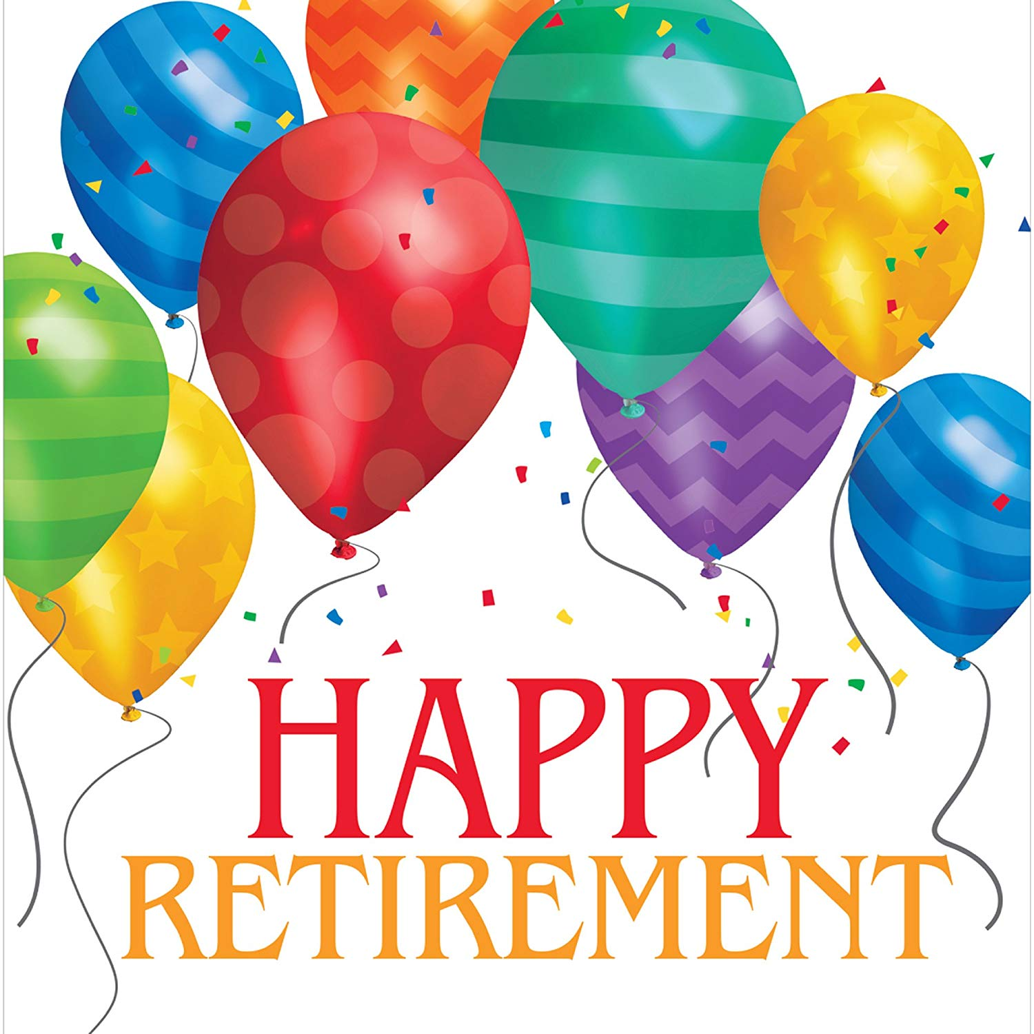 Balloons clipart retirement. Amazon com creative converting