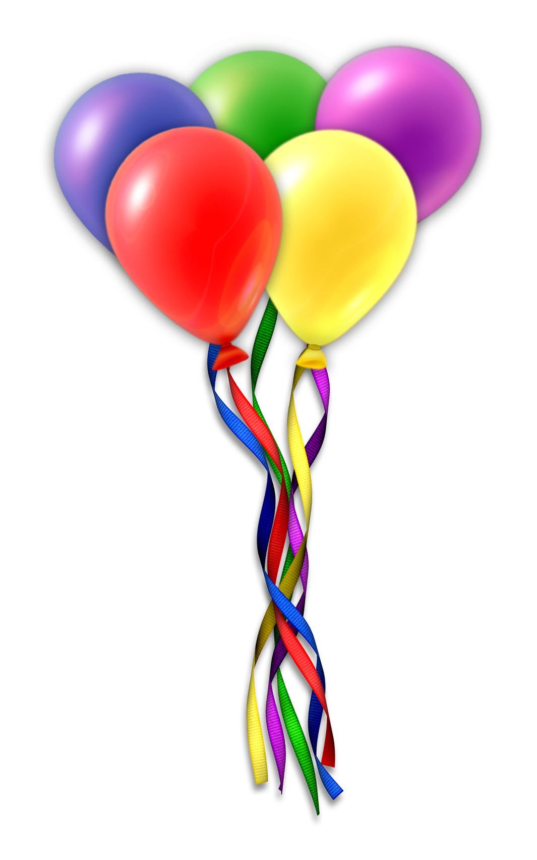 Balloons party png. Transparent images all