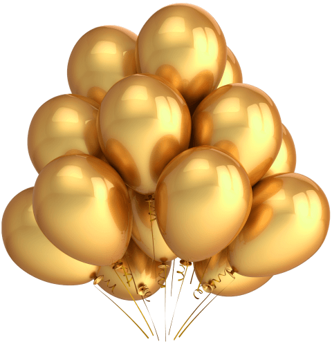 Balloons .png. Golden png free images