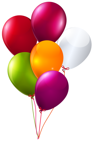 Balloons .png. Colorful bunch of clipart