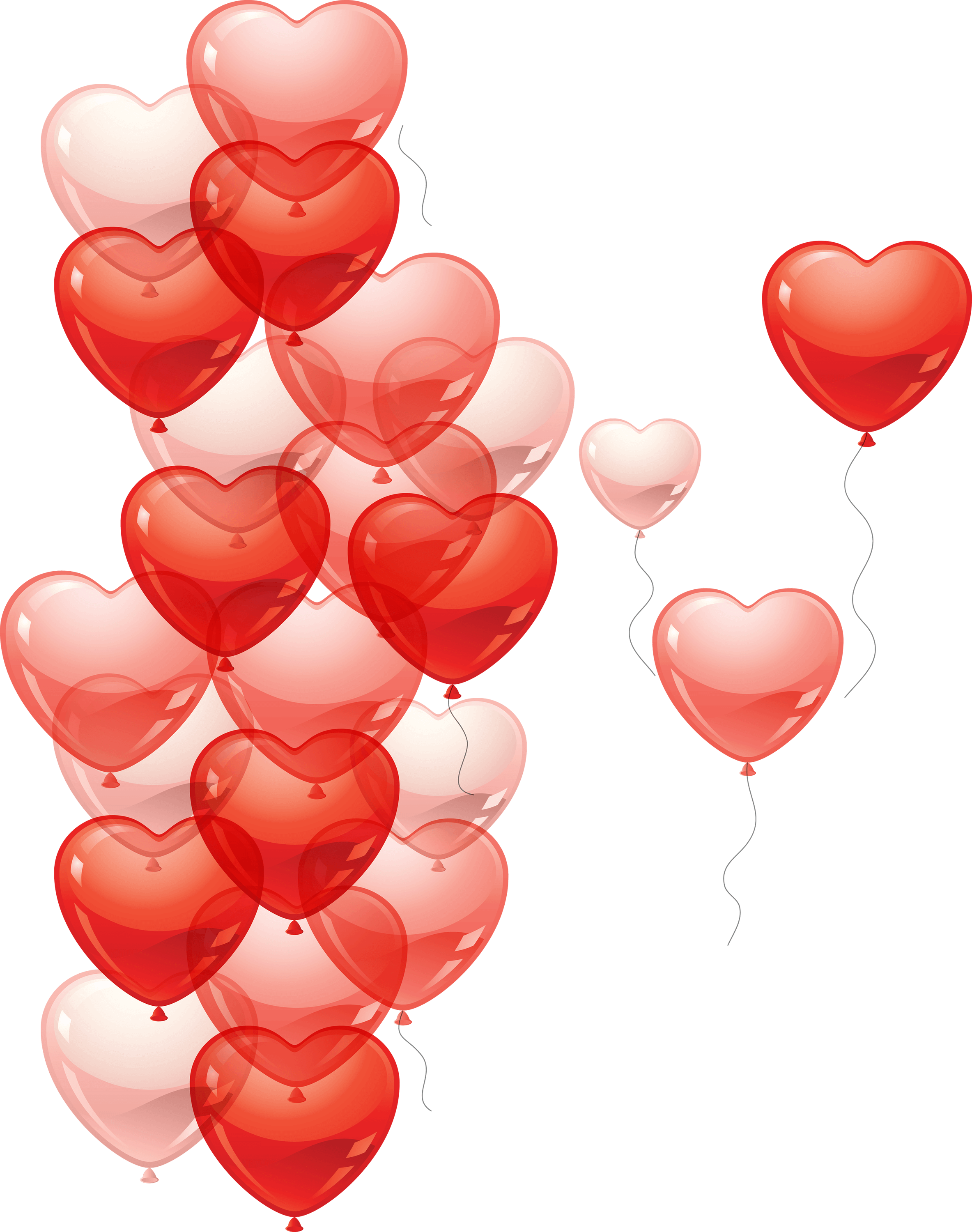 Hearts png transparent. Balloons