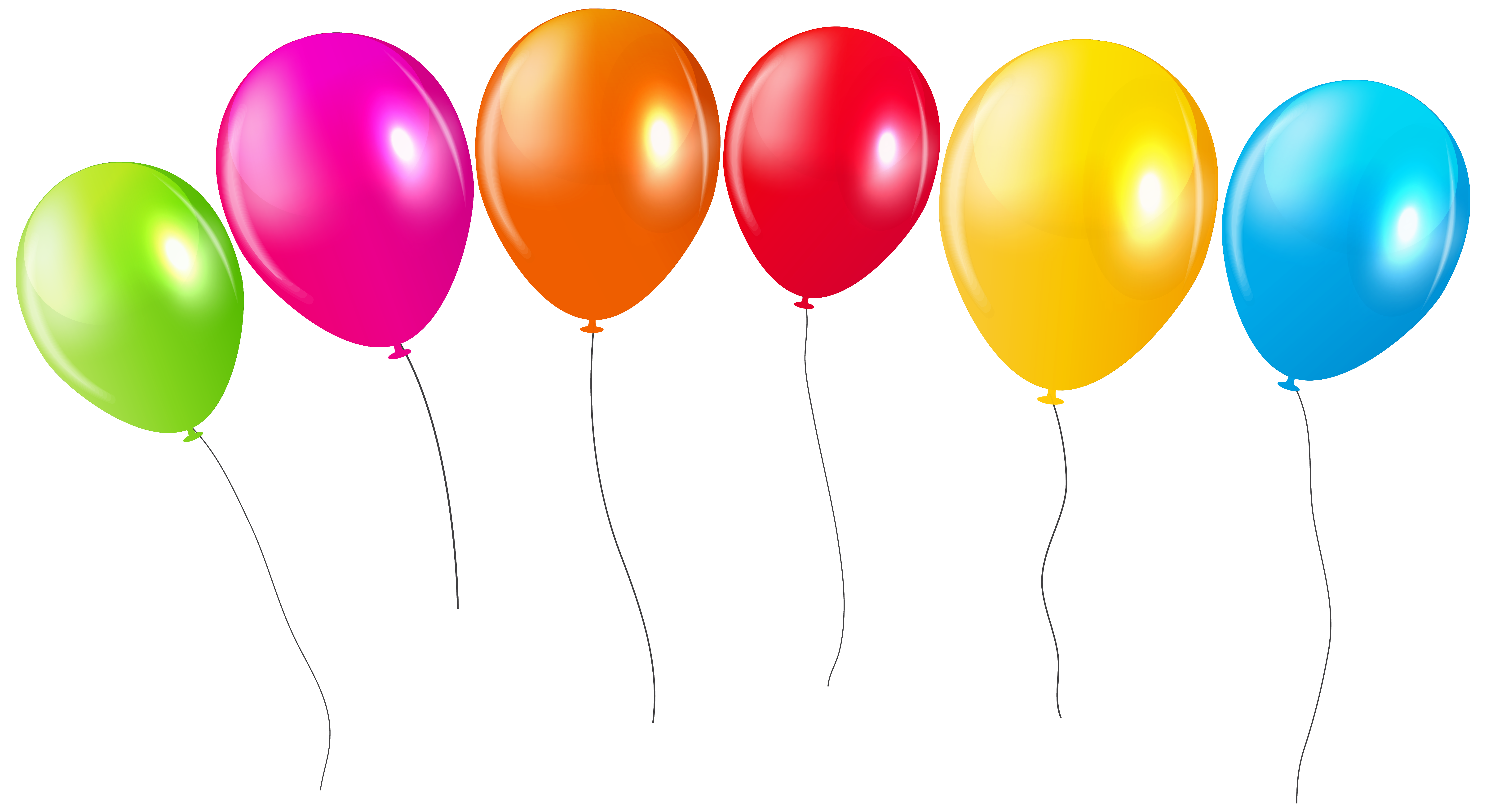 Balloons png transparent background. Colorful clipar gallery yopriceville