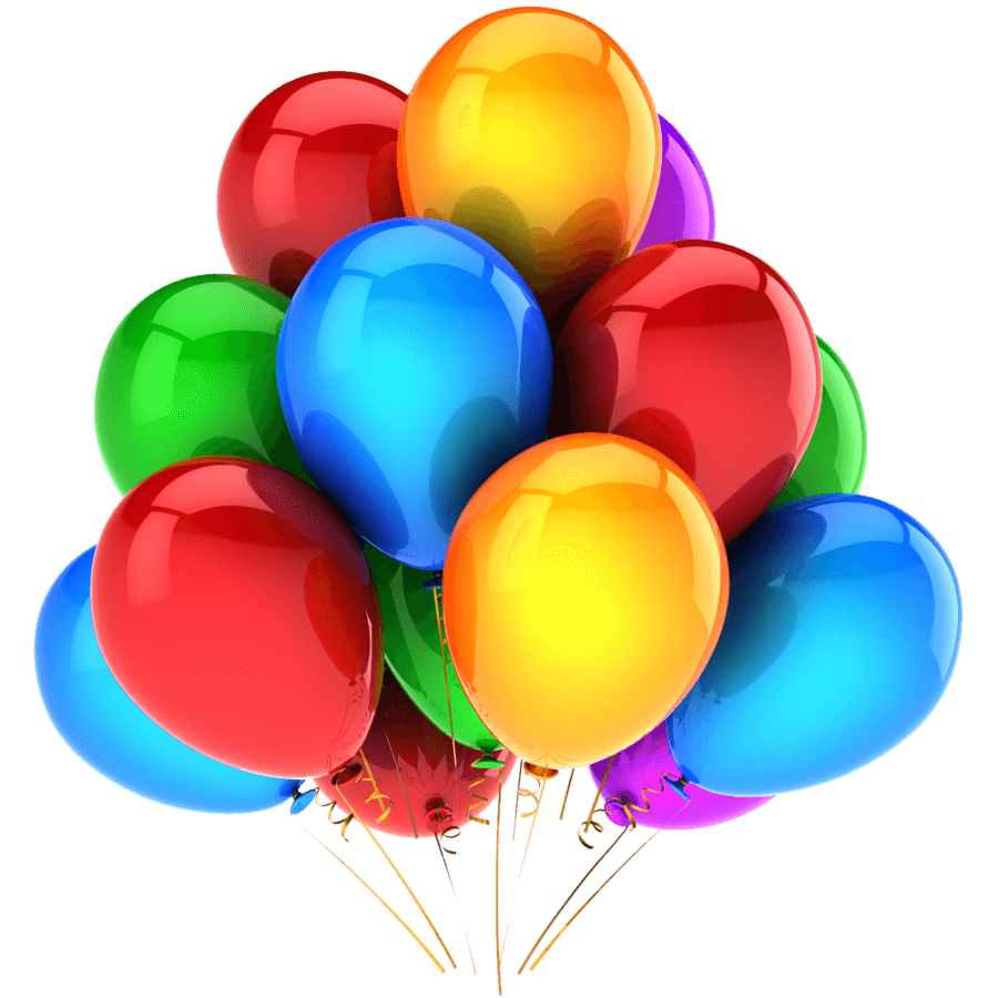 Balloons transparent png. Large group stickpng